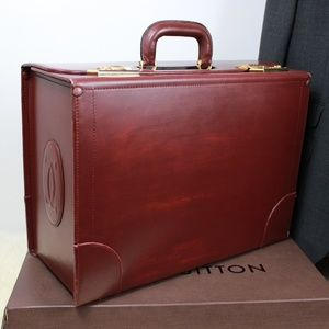 CARTIER Paris Doctor Lawyer Leather Briefcase